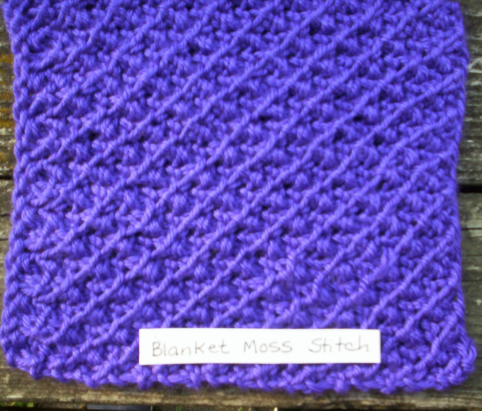 Knitting Stitch In Needlepoint : Patterns-Knit Squares The Ghana Project/Key of Hope