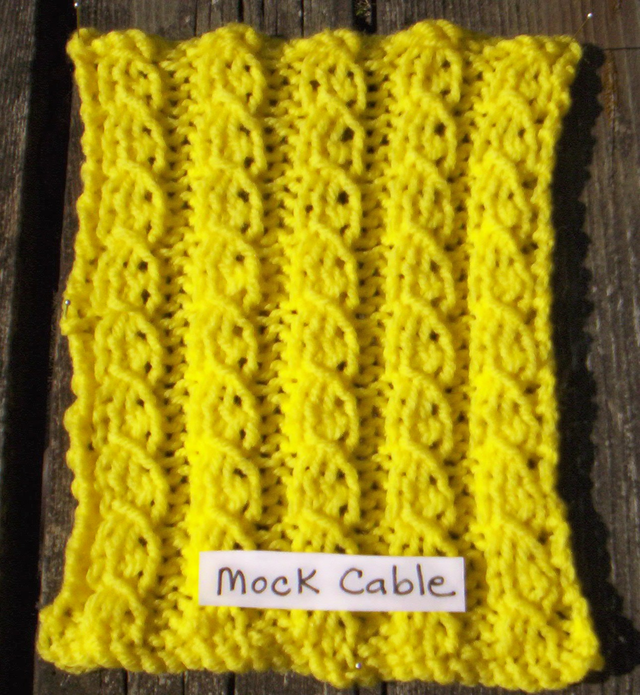 Knitting Stitch Patterns Mock Cable : Patterns-Knit Squares The Ghana Project/Key of Hope