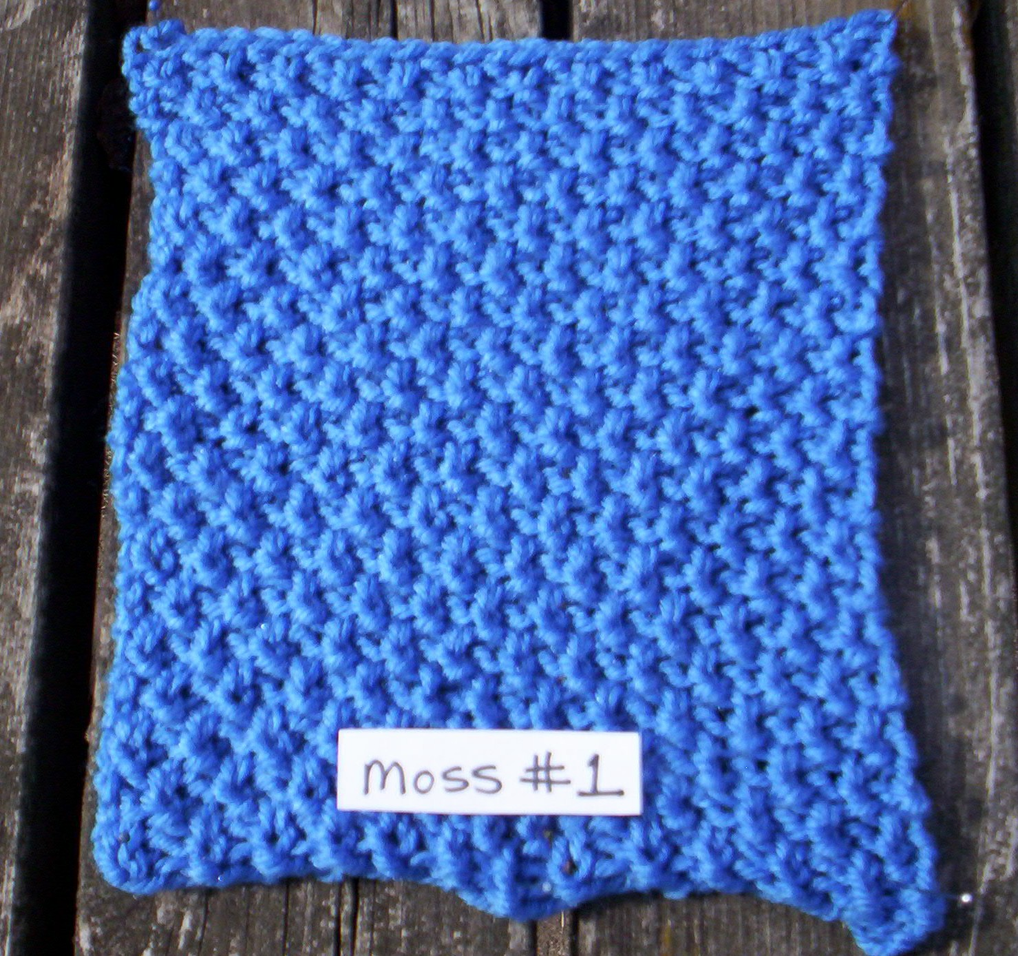 Knitting Stitches Moss Stitch : Moss #1